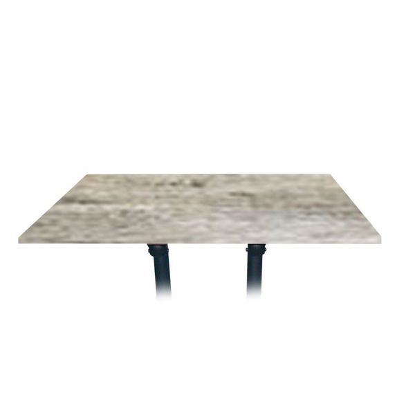 Picture of Grosfillex 48' x 32' Table Top Without Umbrella Hole In Barn White Pack Of 1