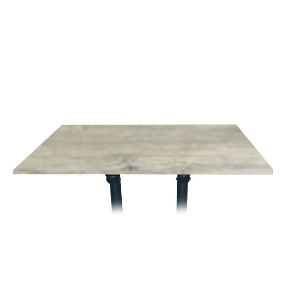Picture of Grosfillex 48' x 32' Table Top Without Umbrella Hole In White Oak Pack Of 1