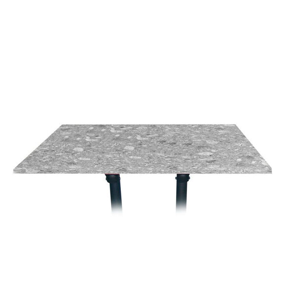 Picture of Grosfillex 48' x 32' Table Top Without Umbrella Hole In Tokyo Stone Pack Of 1