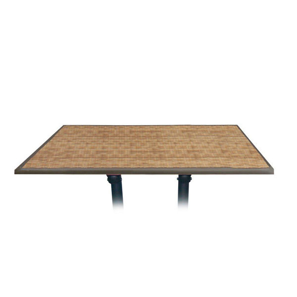 Picture of Grosfillex 48' x 32' Table Top Without Umbrella Hole In Wicker Pack Of 1