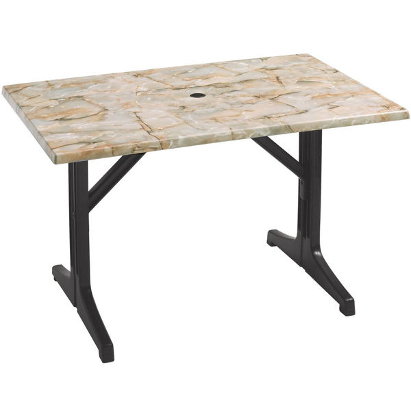 Picture of Grosfillex Resin Lateral Table Base 1000 In Charcoal Pack Of 1