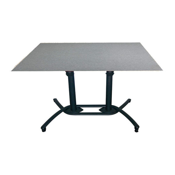 Picture of Grosfillex Aluminum Tilt Top Lateral Table Base 100 In Black Pack Of 1