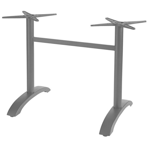 Picture of Grosfillex Aluminum Lateral Table Base In Silver Gray Pack Of 1