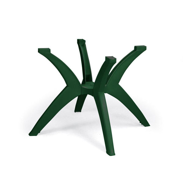 Picture of Grosfillex Y-Leg Resin Pedestal Table Base In Amazon Green Pack Of 1