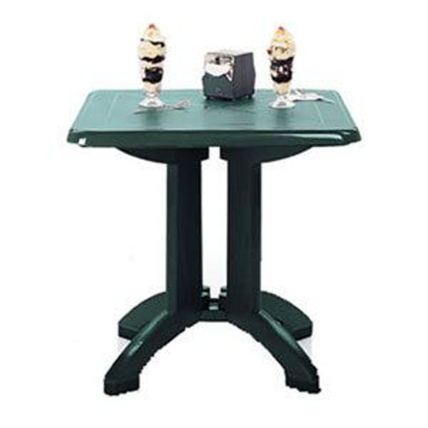 """Picture of Grosfillex Vega 32"""" Square Resin Folding Table In Amazon Green Pack Of 12"""