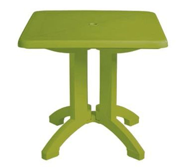 """Picture of Grosfillex Vega 32"""" Square Resin Folding Table In Fern Green Pack Of 12"""