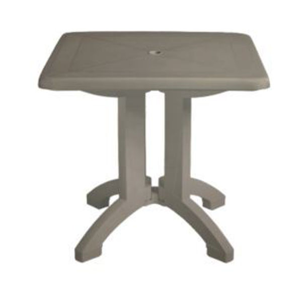 "Picture of Grosfillex Vega 32"" Square Resin Folding Table In Taupe Pack Of 12"