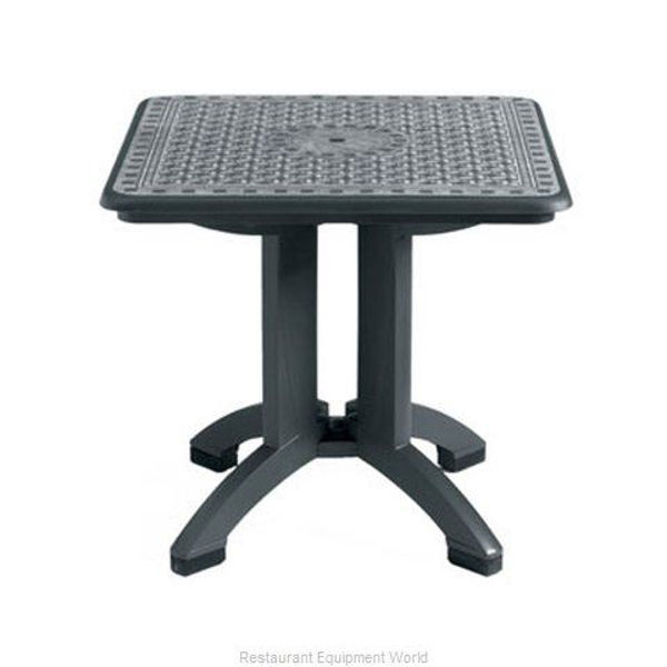 """Picture of Grosfillex Toledo 32"""" Square Resin Folding Table In Charcoal Pack Of 2"""