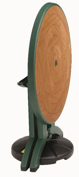 """Picture of Grosfillex Atlantis 38"""" Round Resin Folding Table In Amazon Green Pack Of 1"""