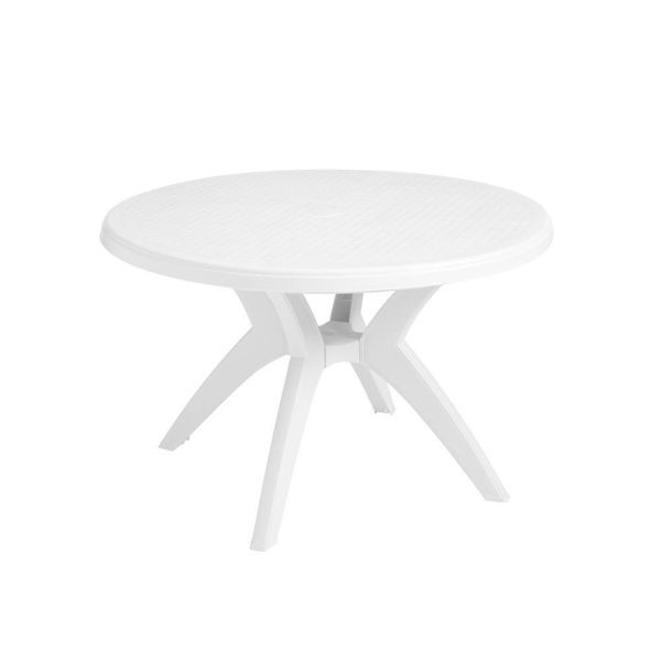 "Picture of Grosfillex Ibiza 46"" Round Pedestal Table In White Pack Of 1"