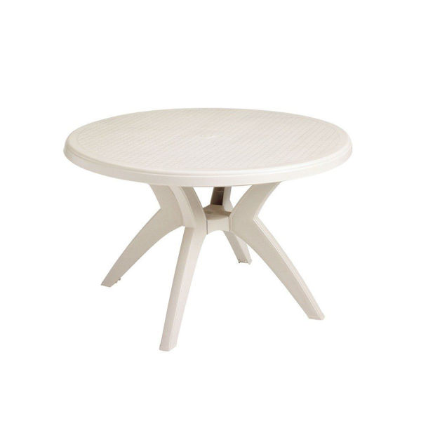 "Picture of Grosfillex Ibiza 46"" Round Pedestal Table In Sandstone Pack Of 1"