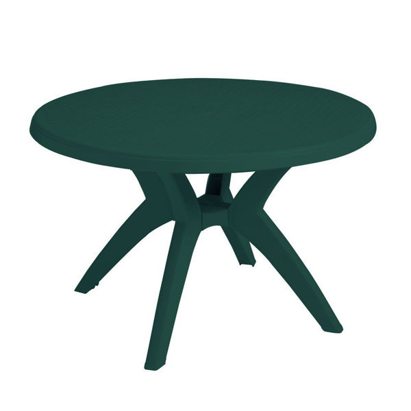 """Picture of Grosfillex Ibiza 46"""" Round Pedestal Table In Amazon Green Pack Of 1"""