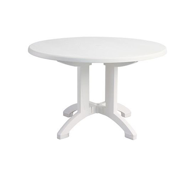 "Picture of Grosfillex Aquaba 48"" Round Pedestal Table In White Pack Of 1"