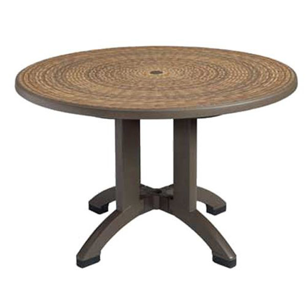 """Picture of Grosfillex Havana 48"""" Round Pedestal Table In Espresso Pack Of 1"""
