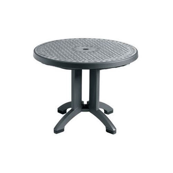 "Picture of Grosfillex Toledo 48"" Round Pedestal Table In Charcoal Pack Of 1"