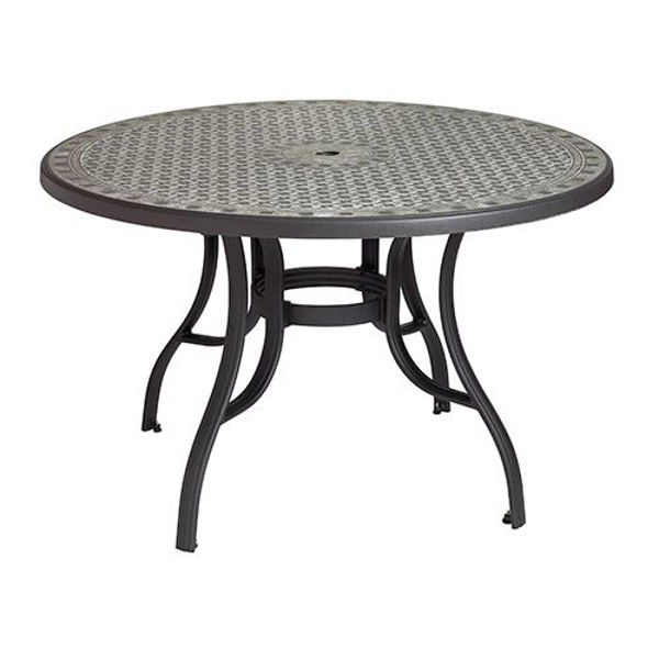 "Picture of Grosfillex Cordoba 48"" Round Table with Metal Legs In Charcoal Pack Of 1"