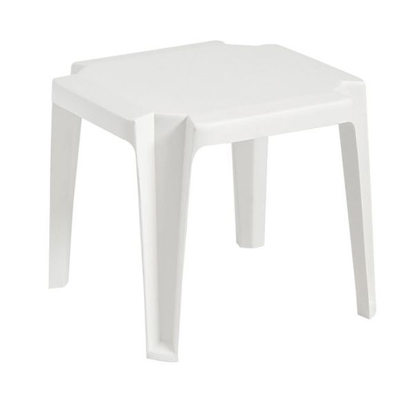 Picture of Grosfillex Miami 17' x 17' Low Table In White Pack Of 6
