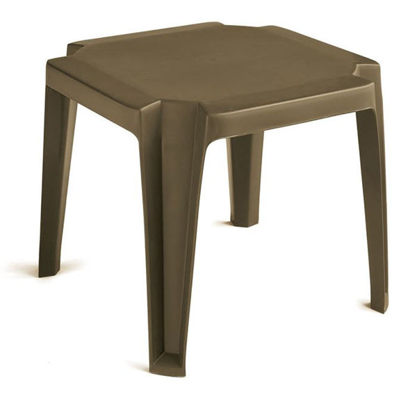 Picture of Grosfillex Miami 17' x 17' Low Table In Bronze Mist Pack Of 6
