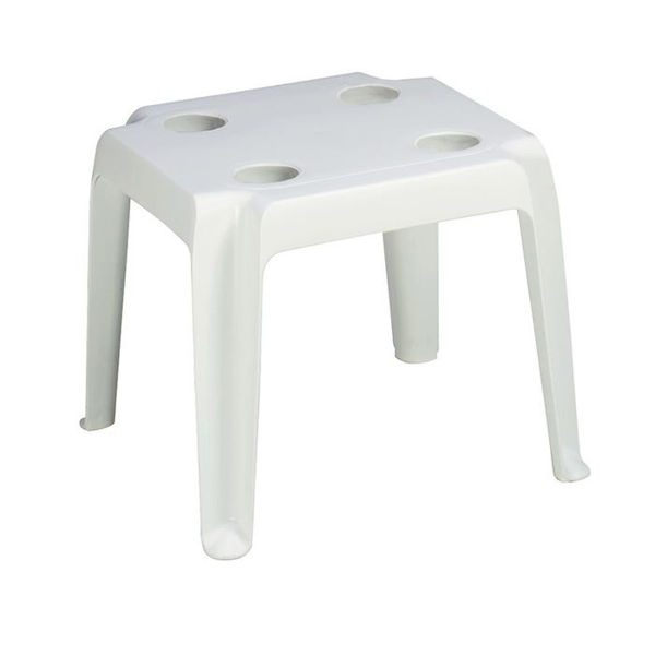 Picture of Grosfillex Oasis 18' x 18' Low Table with Cupholders In White Pack Of 14