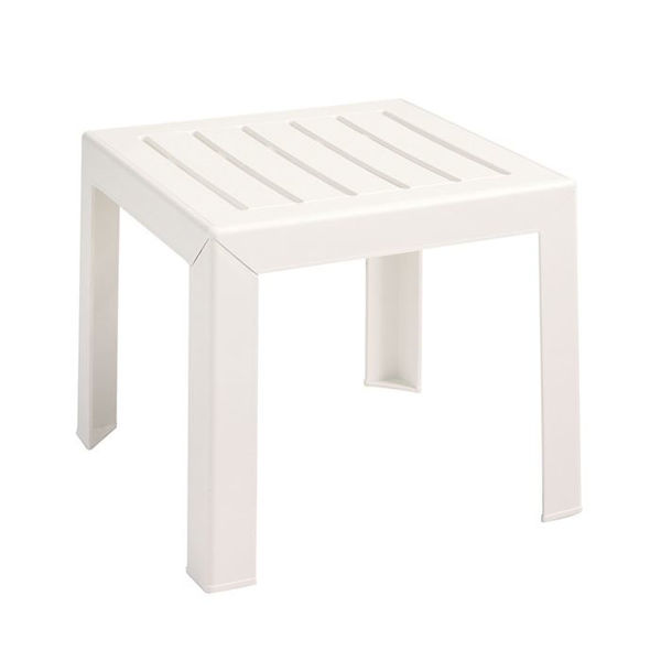 Picture of Grosfillex Bahia 16' x 16' Low Table In White Pack Of 1
