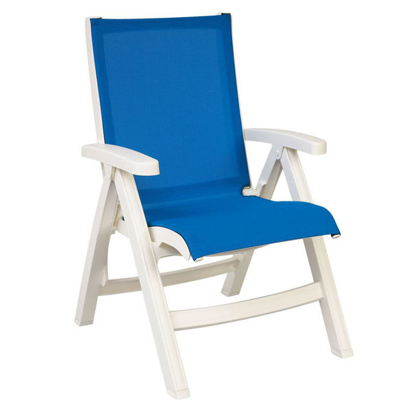 Picture of Grosfillex Belize Replacement Sling Chair - White Frame In Blue Pack Of 1