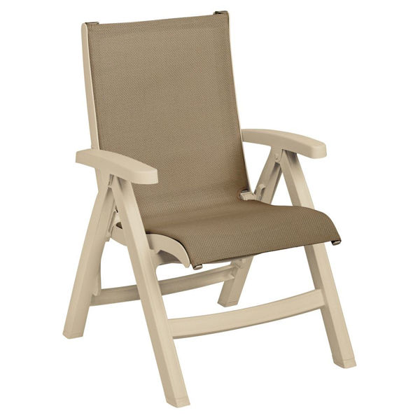 Picture of Grosfillex Belize Replacement Sling Chair - Sandstone Frame In Taupe Pack Of 1