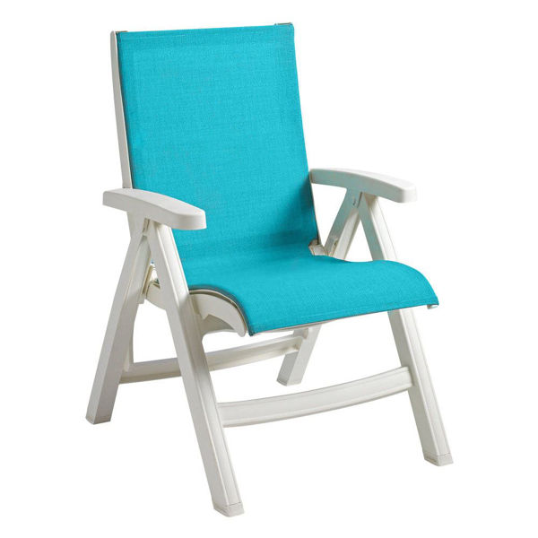 Picture of Grosfillex Belize Replacement Sling Chair - White Frame In Turquoise Pack Of 1
