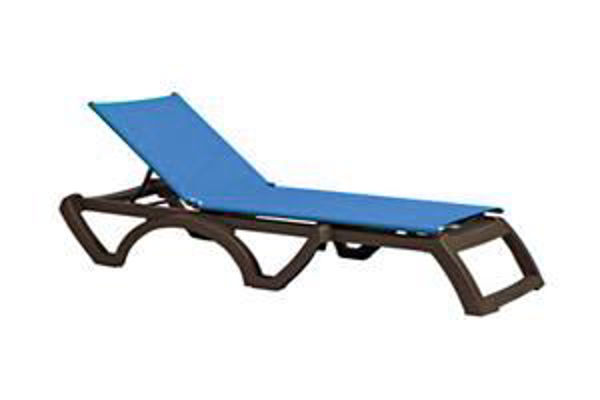 Picture of Grosfillex Belize Replacement Sling Chair - Bronze Frame In Spa Blue Pack Of 1