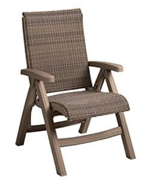 Picture of Grosfillex Java All-Weather Wicker Chaise Replacement Frame In Mocaccino Pack Of 12