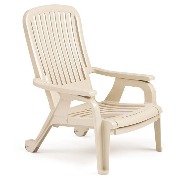 Picture of Grosfillex Bahia Stacking Deck Chair In Sandstone Pack Of 10