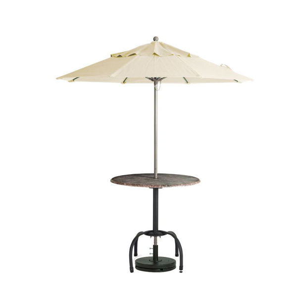 "Picture of Grosfillex Windmaster 9 Ft. Fiberglass Umbrella with 1 1/2"" Aluminum Pole In Khaki Pack Of 1"