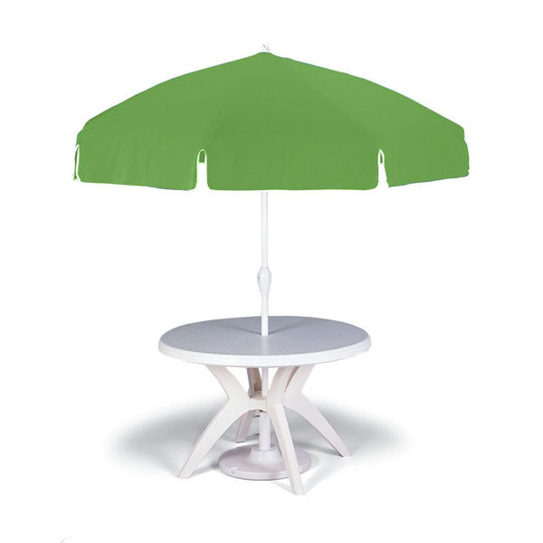 "Picture of Grosfillex 7.5 Ft. Push Up Umbrella with 1 1/2"" Pole In Apple Green Pack Of 1"