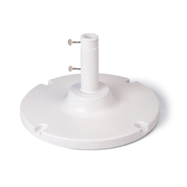"""Picture of Grosfillex 35 Lb. Table Umbrella Base with a 10"""" stem In White Pack Of 1"""