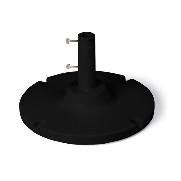 "Picture of Grosfillex 35 Lb. Table Umbrella Base with a 10"" stem In Black Pack Of 1"