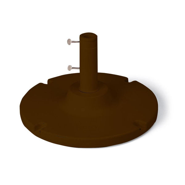 """Picture of Grosfillex 35 Lb. Table Umbrella Base with a 10"""" stem In Bronze Pack Of 1"""