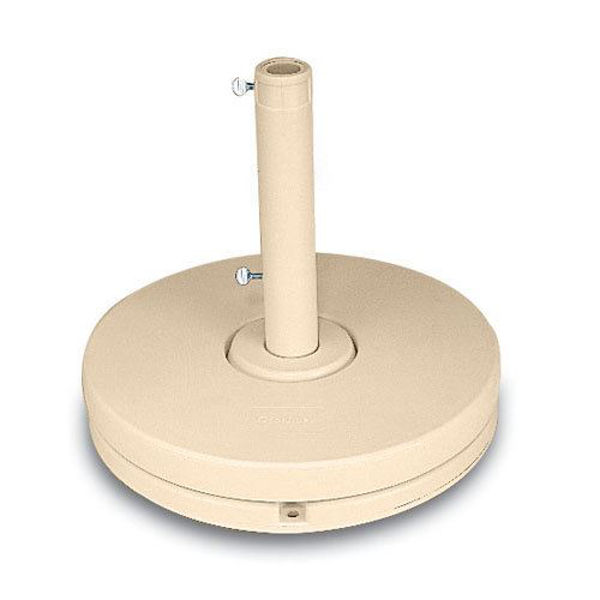 "Picture of Grosfillex 70 Lb. Market Umbrella Base 1 1/2"" and 2"" Pole 16"" Stem In Sandstone Pack Of 1"