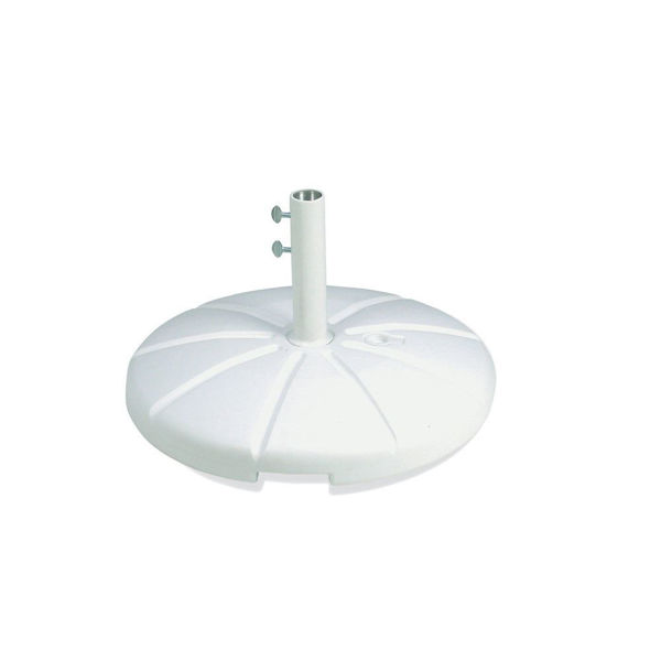 Picture of Grosfillex Resin Umbrella Base with Filling Cap In White Pack Of 1