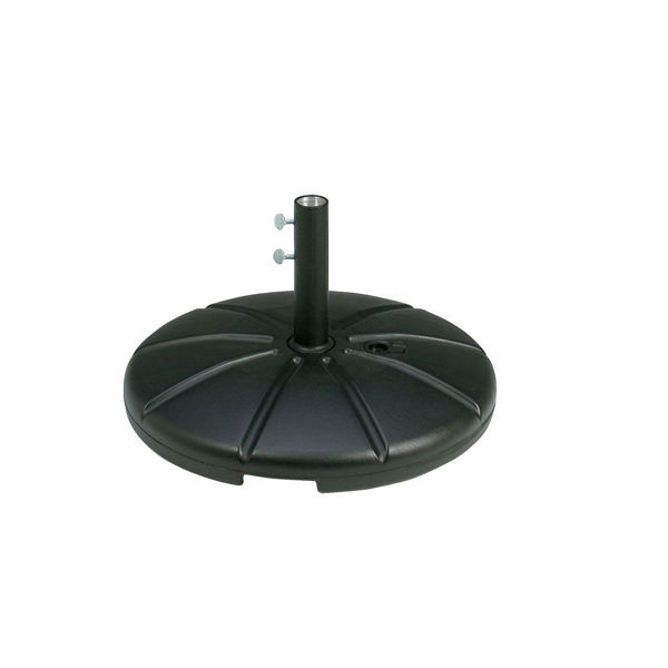 Picture of Grosfillex Resin Umbrella Base with Filling Cap In Black Pack Of 1