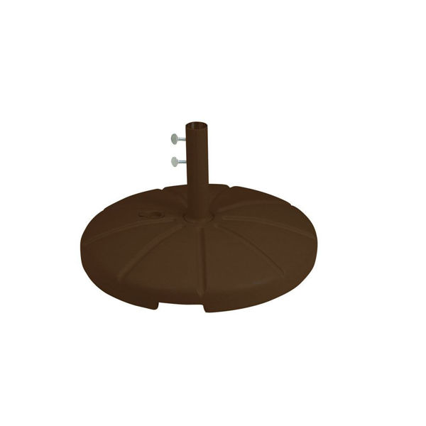 Picture of Grosfillex Resin Umbrella Base with Filling Cap In Bronze Pack Of 1
