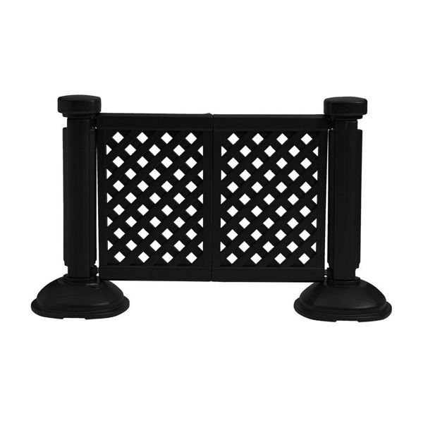 Picture of Grosfillex Resin Patio Fence 2 Panel Section In Black Pack Of 1