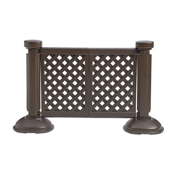 Picture of Grosfillex Resin Patio Fence 2 Panel Section In Brown Pack Of 1