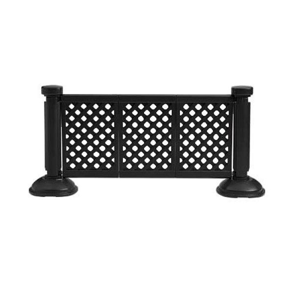 Picture of Grosfillex Resin Patio Fence 3 Panel Section In Black Pack Of 1