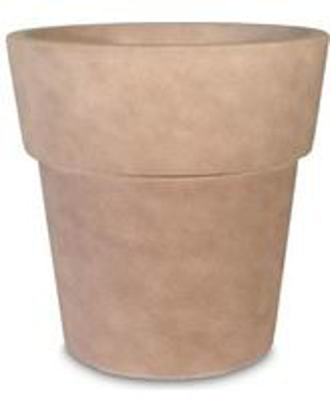 """Picture of Grosfillex Solta 19"""" Round Commercial Planter In Pietra Pack Of 3"""