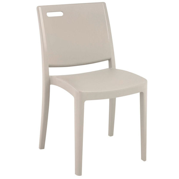 Picture of Grosfillex Metro Stacking Chair In Linen Pack Of 16