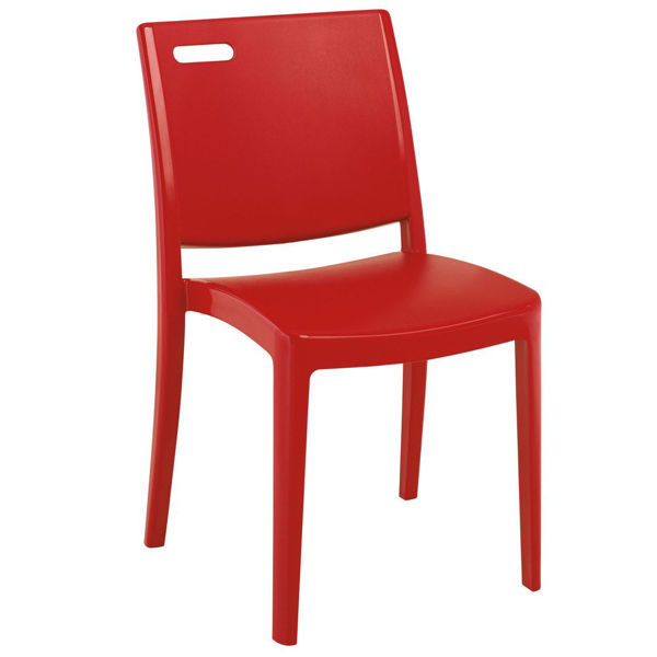 Picture of Grosfillex Metro Stacking Chair In Apple Red Pack Of 4