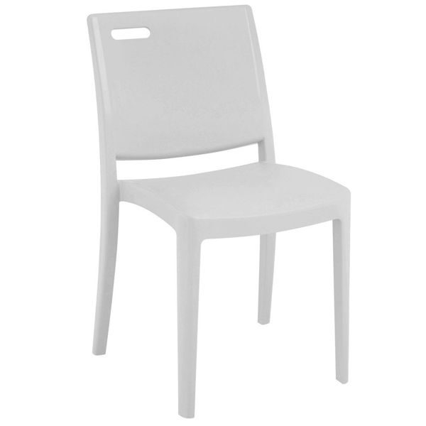 Picture of Grosfillex Metro Stacking Chair In Glacier White Pack Of 4