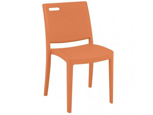 Picture of Grosfillex Metro Stacking Interior Chair In Orange Pack Of 4