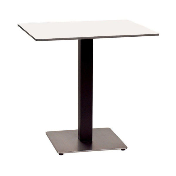 Picture of Grosfillex 24' x 30' HPL Tabletop with Rails In White Pack Of 1