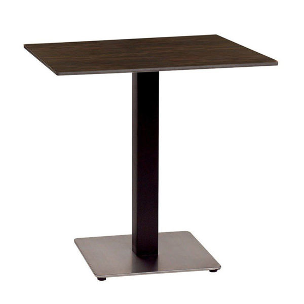 Picture of Grosfillex 24' x 30' HPL Tabletop with Rails In Wenge Pack Of 1