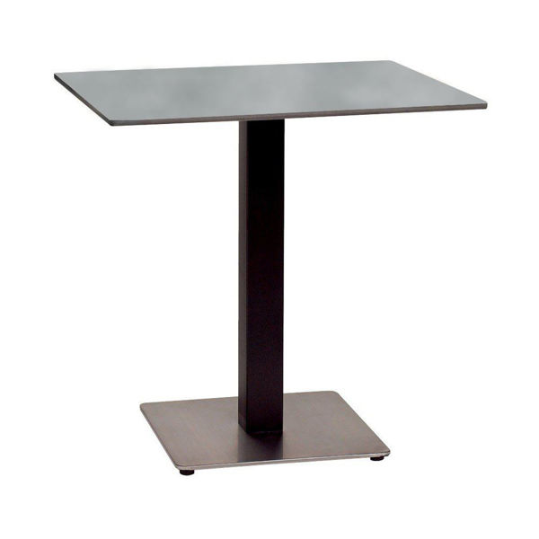 Picture of Grosfillex 24' x 30' HPL Tabletop with Rails In Grey Linen Pack Of 1